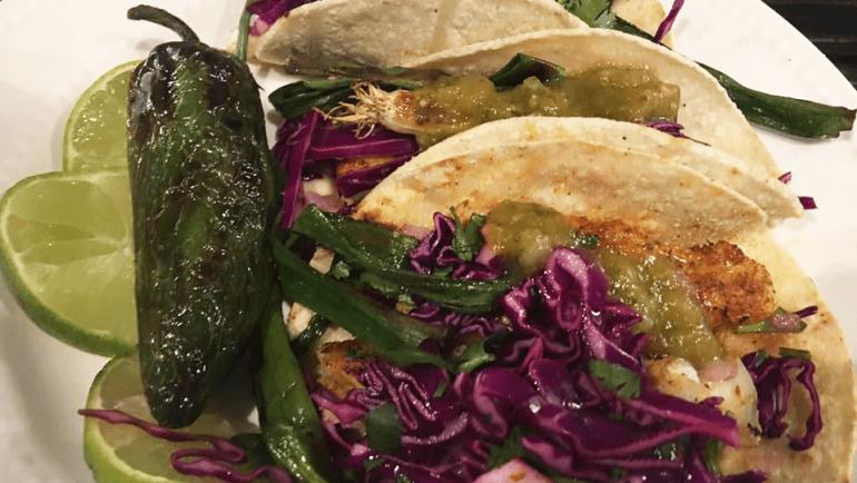 VIP Blackened Lingcod Tacos