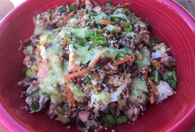 VIP Salmon Fried Rice