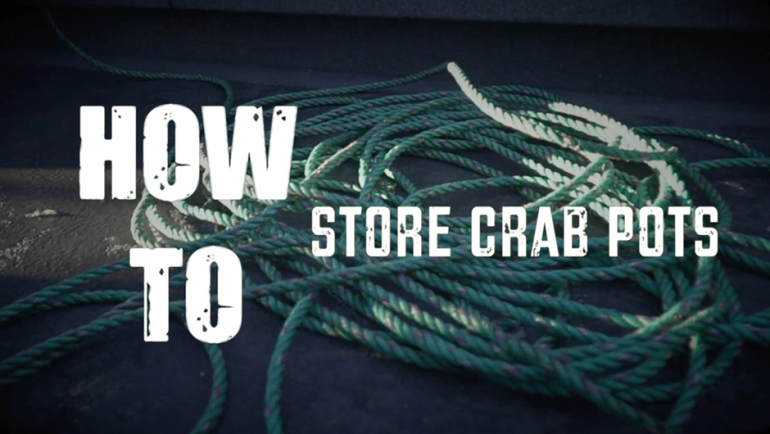 How to store your crab pots
