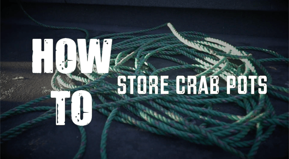 how to store crab pots