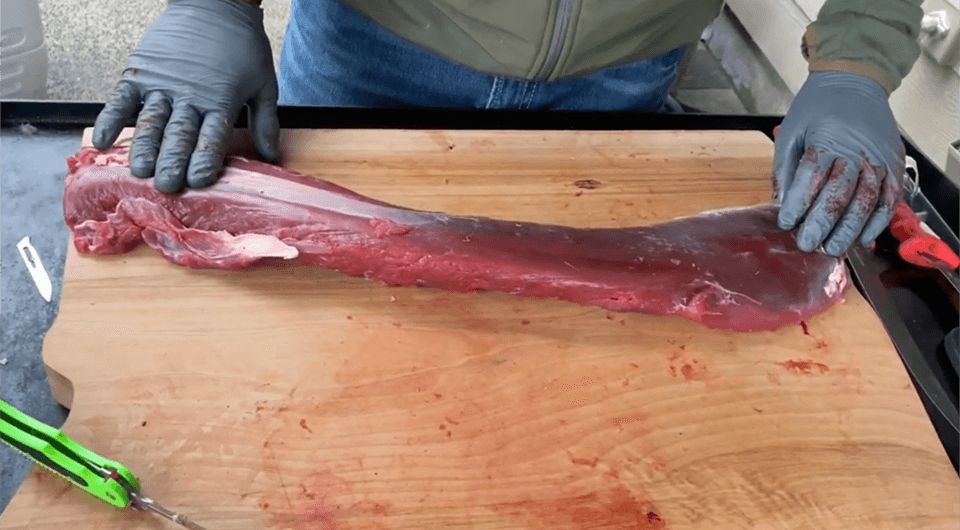 how to trim deer back strap
